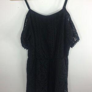 Xhilaration Black Lace Romper